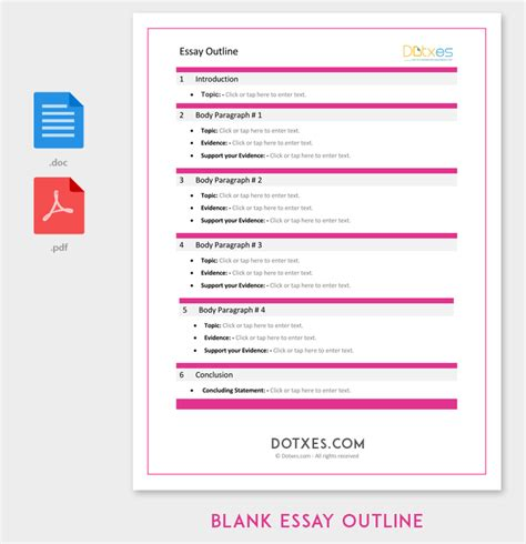 blank outline template  examples  formats