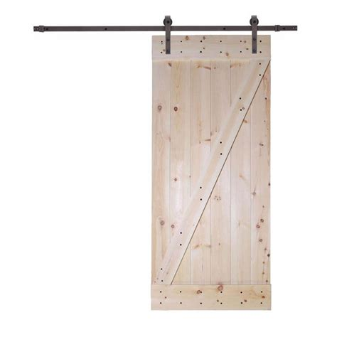 slider door track hardware classic bent strap sliding door track calhome 36 in x 84 in unfinished knotty pine wood barn