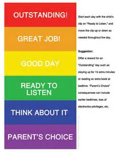 color behavior chart your free printable color coded behavior chart today