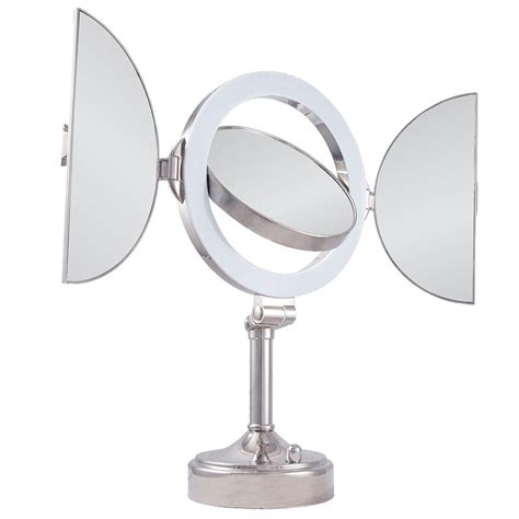 magnification mirror with light zadro slvt710 natural sunlight 10x magnification mirror