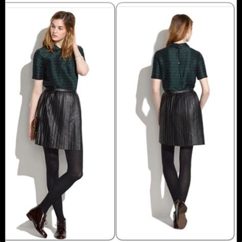 1000 ideas about pleated leather skirt on