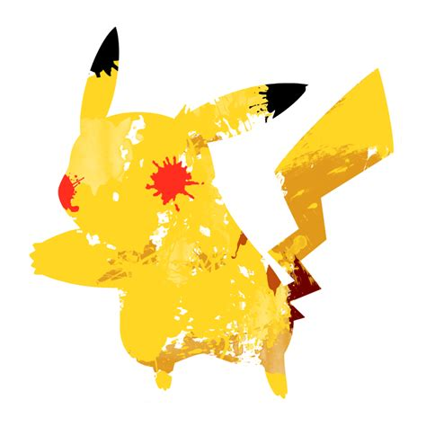 Sprei Dluxe No 1 Pikachu pikachu 1 paint splatter graphics by hollyshobbies on