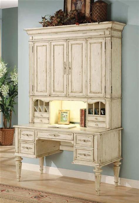 Cheap White Desk With Hutch Vicenza Desk W Hutch In Antique White Finish Furniture Antiques And Desks