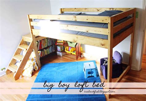 diy boys bed ana white big boy toddler loft bed diy projects