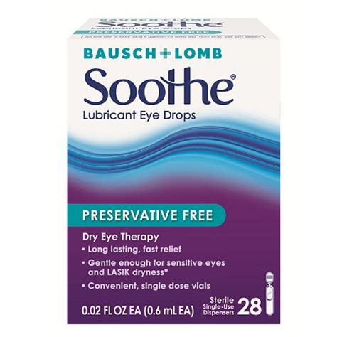 soothe lubricant eye drops, preservative free | walgreens