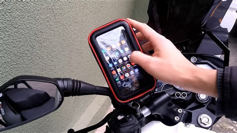 motosiklete su gecirmez telefon tutucu uygulamasi youtube