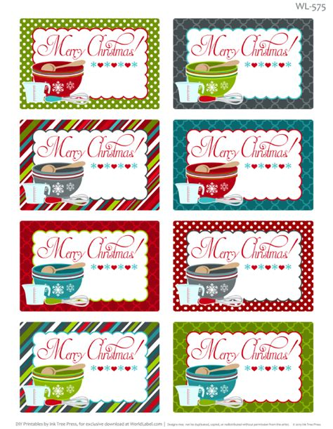 Etiketten Drucken Word Pad by Printable Christmas Labels For Homemade Baking