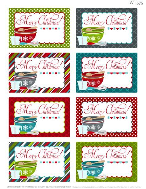 printable tag creator printable christmas labels for homemade baking