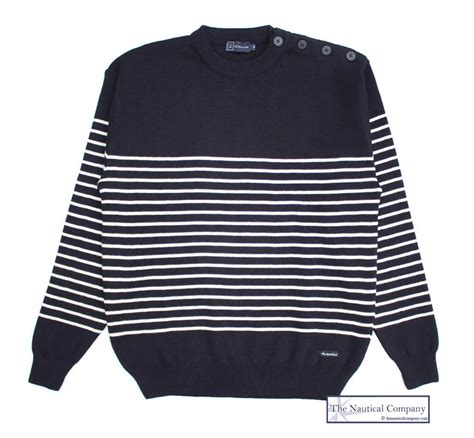 Hoodiesweaterjacket Nb s striped breton jumper navy blue armor the nautical company uk