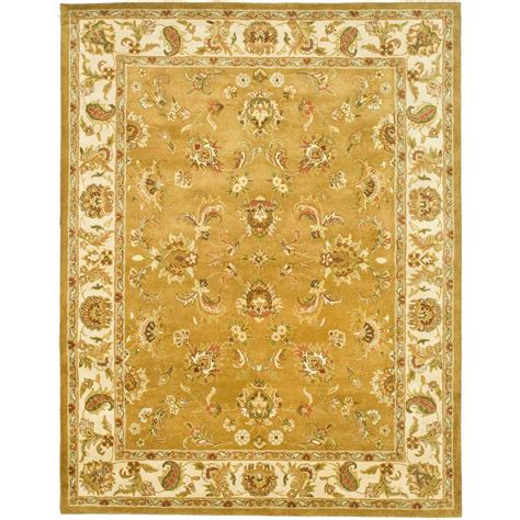 7 6 x 9 6 rug safavieh heritage mocha ivory 7 ft 6 in x 9 ft 6 in area rug hg816a 8 the home depot