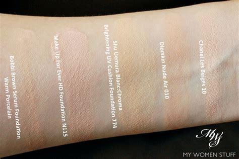 Petal Skin Foundation 754 review shu uemura blanc choma uv brightening cushion