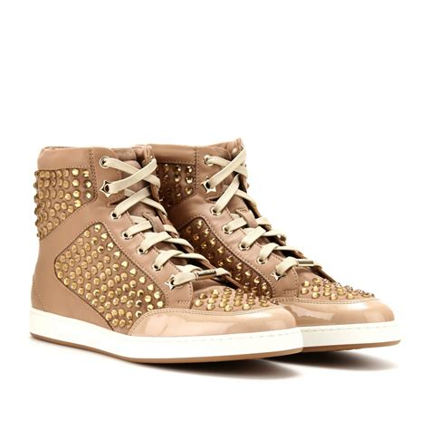 jimmy choo sneakers jimmy choo tokyo embellished leather high top sneakers in