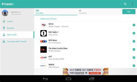 real time now playing feed fm radio tunein radio android apps on google play