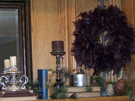 div within a div silver trappings thanksgiving table and mantel decorations
