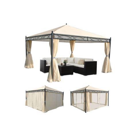 pavillon 4x4 meter havepavillon 4x4m beige pavillon med myggenet
