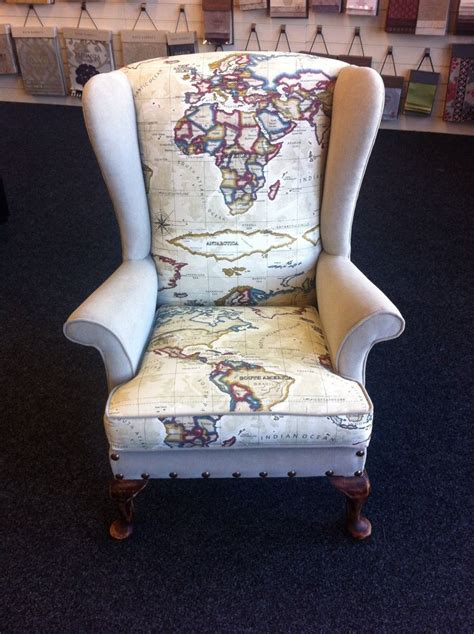 fabrics for chairs knoll wingback chair fully upholstered map world