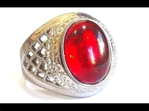 Batu Merah Yahman Merah Delima cara merasakan energi cincin batu