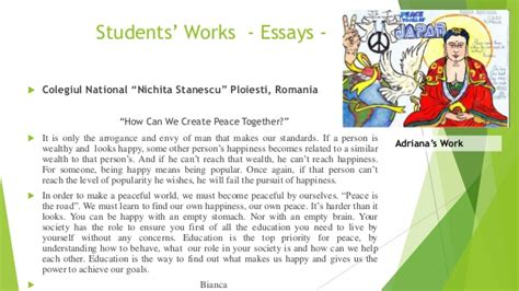S Essays And Speeches On Peace by A File For Emails Of A Presentation About Youth Messages For Peace 20