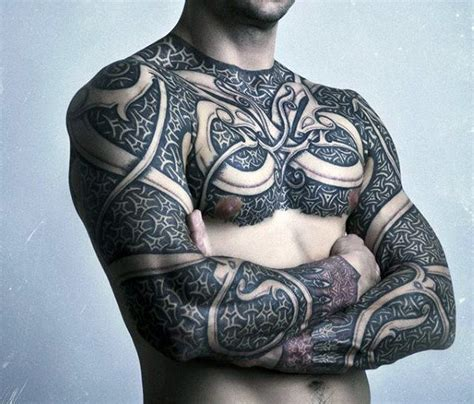 body armor tattoos 40 chain tattoos for manly designs linked in strength