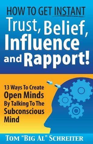 instant trust belief influence  rapport