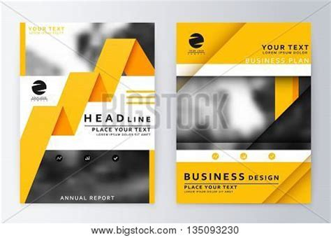 layout of paper presentation layout design template annual vector photo bigstock