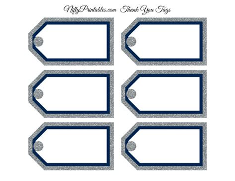 blank tags blank favor tags navy silver glitter nifty printables