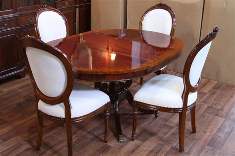 round mahogany pedestal dining table 44 quot reproduction