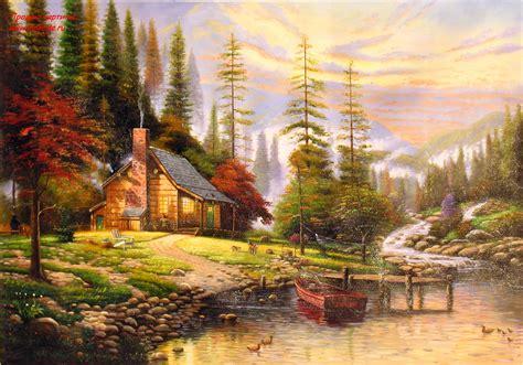 1449482910 thomas kinkade peaceful retreat with pin peaceful retreat thomas kinkade wallpaper ax on pinterest