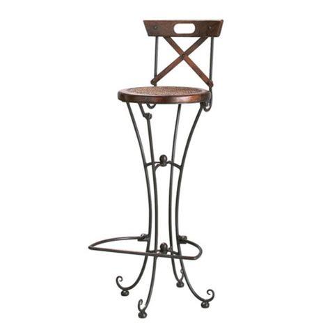 sedia da bar in massello di legno di sheesham e ferro