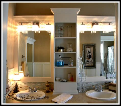 builder grade bathroom mirror hometalk how to frame a builder grade mirror a