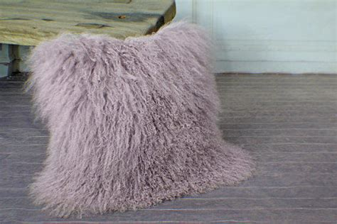 long curly fur cushion cover real genuine from shedlimited on
