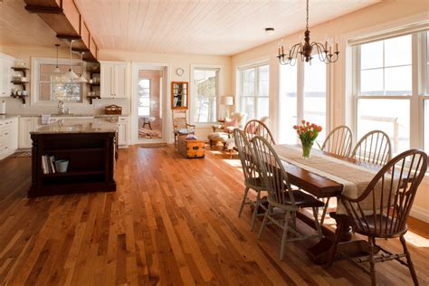 Distressed Wood Floors Dogs - hickory hardwood flooring kitchen contemporary with