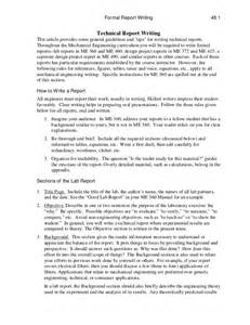 Technical Writing Paper Technical Report Writing