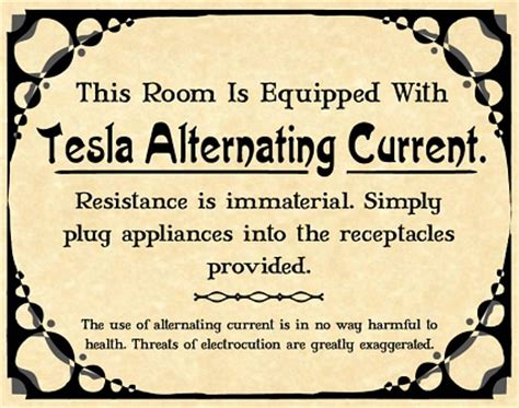 Alternating Current Nikola Tesla Tag Nikola Tesla Wesley Treat S Roadside Resort