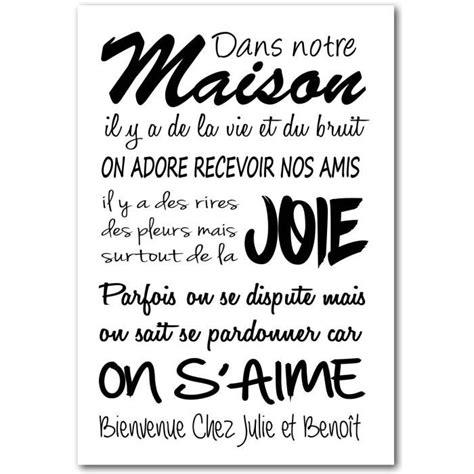 Tableau Chez But by Tableau Texte Phrases Personnalis 233 Chez Nous Taille 80 X