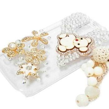 For Oppo A39a57luxury Lovely Flower With Pearl Ring Soft Cas T0310 1 flower charm lovely samsung t989 hercules