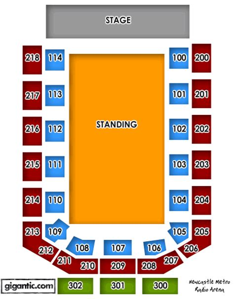 Leeds Arena Floor Plan by Nickelback Metro Radio Arena Newcastle Upon Tyne 16