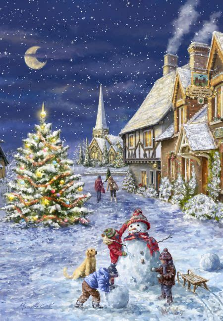 pin  jona ivarsdottir  jolamyndir christmas scenes christmas illustration christmas pictures