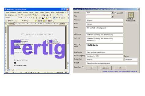 Word Vorlage Geschenkgutschein Freeware Office Word Vorlagen Mit Outlookanbindung Freeware De