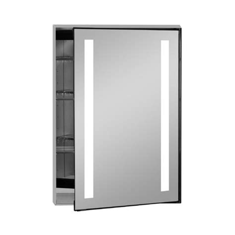 Recessed Medicine Cabinet With Lights Illume Collection Rectangle Backlit Led Medicine Cabinets
