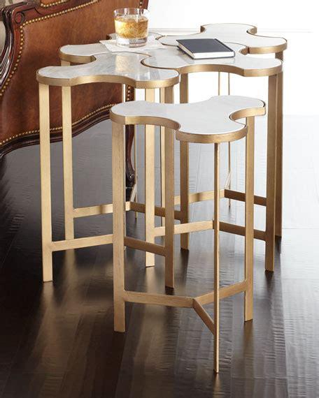 global views end tables global views jafar interlocking marble end table neiman