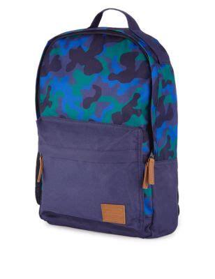 camouflage print rucksack (older boys) | m&s