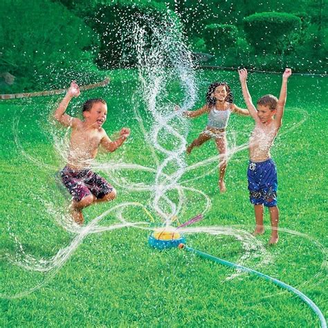backyard water toys new banzai geyser blast sprinkler kids water fun summer