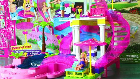 big doll house games mega bloks barbie pool party with barbie doll and ken doll