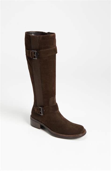 aquatalia by marvin k boot in brown espresso suede