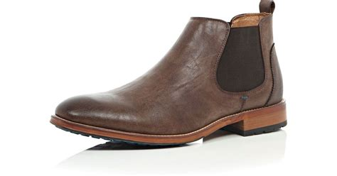river island brown color sole chelsea boots in brown