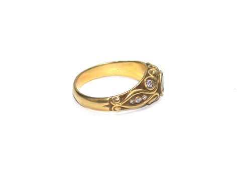 14kt gold sapphire and ring