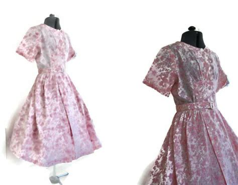 1940 s cotton day dress 12 just vintage clothing co