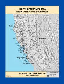 maps northern california weather zone boundaries