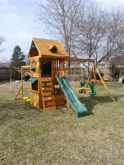 big backyard wooden playsets big backyard ridgeview deluxe playset from toys r us